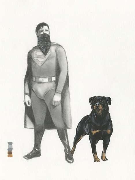 Thug Life Superheros (UPDATE) - Steve Seely Recreates Two Iconic Comic Book Heroes in Gangs
