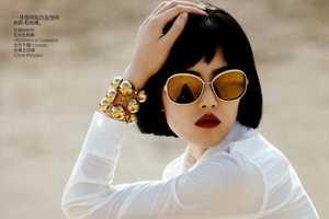 Liu Wen Soaks up the Sun in Vogue China April 2011