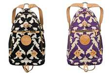 Printed Canvas Backpacks