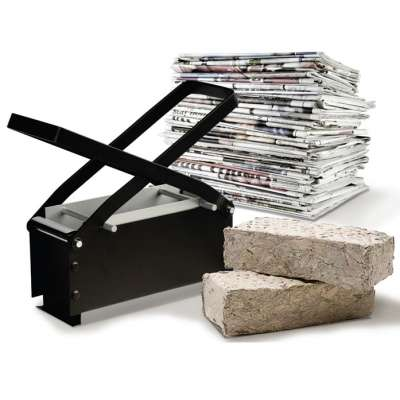 Bark Brick Makers - The Paper Briquette Log Maker Will Help You Make Homemade Burning Materials