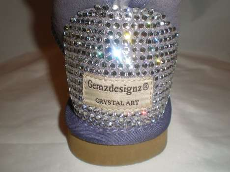SWAROVSKI custom sheepskin boots