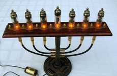 Vintage Victorian Menorahs  - This Steampunk Menorah Provides a Punked-Out Way to Worship