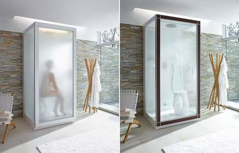 Sleek Steam Showers - Philippe Starck Designs a Minimalist Bathroom Amenity for Duravit