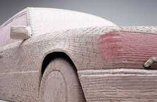 Wrigley's-Wrapped Mercedes by Christian Stoll is a Sedan in a Sticky Situation