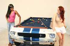 The 1965 Shelby GT Pool Table is Signed and Numbered by Carroll Shelby