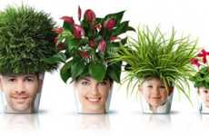The GOOD Photo Flower Pot Combines Headshots and Horticulture