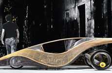 Curvy Bamboo Cars