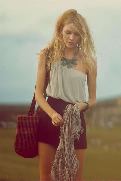 Bathetically Boho Looks - Model Aline Weber for Free People Lookbook Boasts Classic Boho