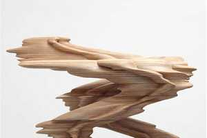 Tony Cragg Creates Vivid Bronze and Wood-Warped Sculptures