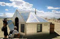 Temporary Reflective Shelters
