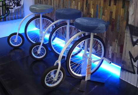 Denim Fitness Furniture - d-bodhi Indonesia Creates Hip Distressed Denim Furniture