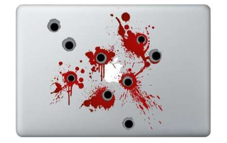 Bloody Bullet MacBook Decal