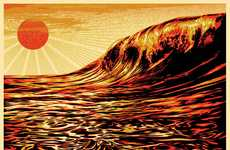 Symbolic Donation Posters - Obey 'Dark Wave/Rising Sun' Print Proceeds Go to Japan