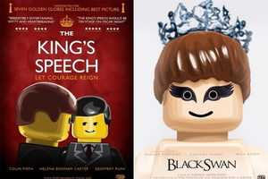 OldRedJalopy Incorporates LEGO Characters into Blockbuster Film Posters