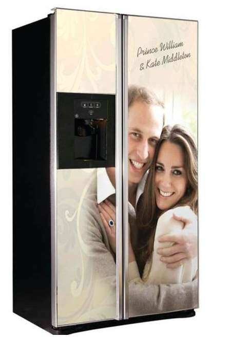 Royalty Freezers - The Royal Wedding GE Fridge is Perfect for Fans of William and Kate Middleton