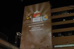 Nokia and Rovio Team Up to Bring an Angry Birds 3D Projection to SXSW Viewers