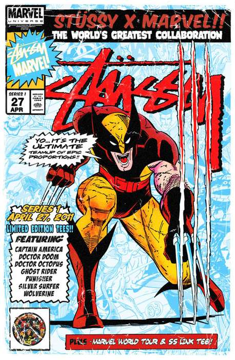 Stussy x Marvel Comics Collection