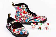 Japanese Cartoon Kicks - Dr Martens x Sanrio SS 2011 Brings the Adorable Character to Footwear