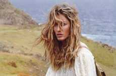 Lonely Traveler Photoshoots - The Gisele Bundchen Vogue Paris Editorial is Wander-Worthy