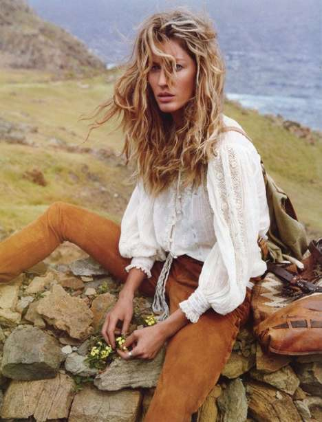 Lonely Traveler Photoshoots - The Gisele Bundchen Vogue Paris April 2011 Editorial is Wander-Worthy