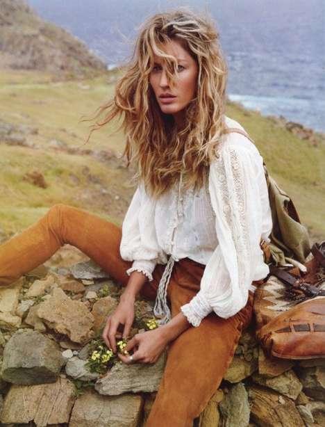 Lonely Traveler Photoshoots - The Gisele Bundchen Vogue Paris Editorial is Wander-Worthy