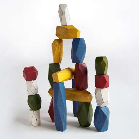 Precariously Perched Pieces - The Poketo Balancing Blocks for a Game of Stone Stacking Skill