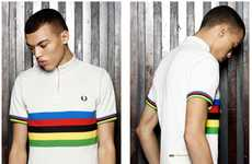 Retro Biking Shirts - Fred Perry Cycling Blank Canvas Collection is Inspired by 60s Sportswear