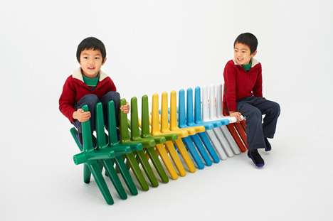 Recycled Children's Furniture - The SugiX Nakadai Project Teaches Kids to be Sustainable