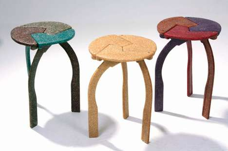 Puzzling Stools - Piece Together the Pieces of the Pallares Chair by Carlos Cordoba