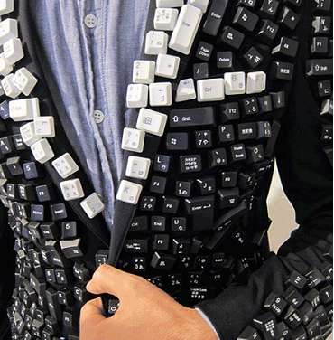 Keyboard Tuxedos - Reboot the Life Back into a Party With the Computer Keys Jacket