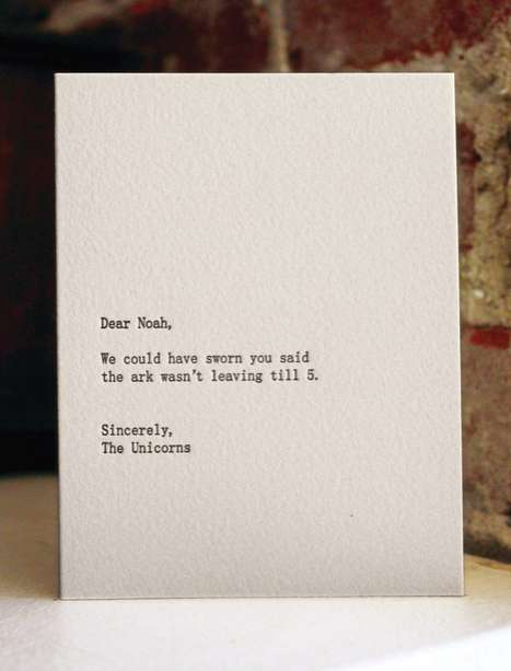 Snarky Stationery - The Dear Blank Please Blank Project is a Series of Cheeky Letterpress Cards