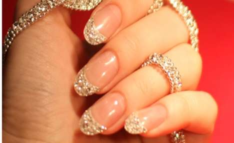 Diamond-Studded Nails - Cherish...ME is Offering Iced Manicures for $51,000