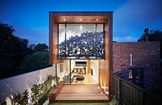 Treetop Facade Abodes - The Nature Screen on the Nicholson House Creates a Perennial Shade