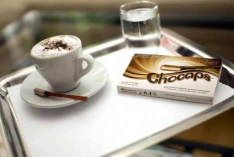 Chocolate Cigarettes - Chocaps are Designed to Keep Chocolate-Lovers from Packing on the Pounds
