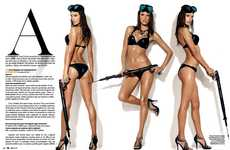 Aggressively Sensual Shoots - The Alessandra Ambrosio GQ Brazil Editorial is Fit for a Bond Film
