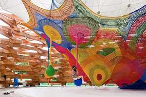 Skill Forest Climbing Net Makes the Hakone Pavillion a Magical Place