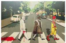 Fast Food Movements - The Crusade of Abbey Road Depicts Mascots Marching to Holy War