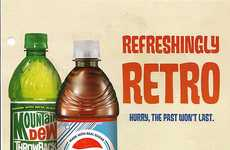 Vintage Pop Can Ads - Pepsi and Mountain Dew Bring Back Old Designs and Ingredients