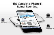 Smartphone Prediction Charts - This iPhone 5 Rumor Infographic Lays out Intelligent Tech