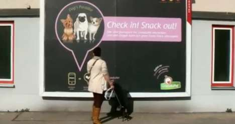 Social Media Feeders - Granatapet Develops a Billboard With Foursquare That Releases Dog Food