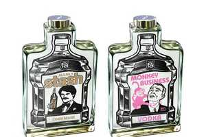 Charles S. Anderson Design Gives Brand X Liquor a Pop-Art Feel