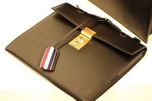 The Thom Browne iPad Case is a Super Sleek Briefcase Design