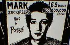 Social Media Street Art - The Mark Zuckerberg Has a Posse Sticker Arouses Curiosity in Los Angeles