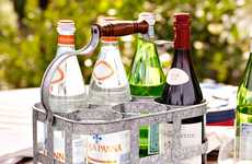 Alcoholic Throwback Carriers - The Galvanized Metal 6-Pack Caddy Modernizes the 50s Milkman