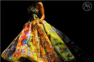 The Golden Book Gown is Made Up of Illustrations from Classic Kids' Books
