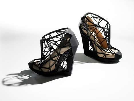 Architecturally Caged Pumps (UPDATE) - Andreia Chaves' Newest Design Will Trap Your Feet in Place
