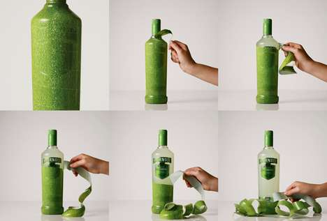 Peelable Booze Bottles - Unwrap the Fruity Flavors of the New Smirnoff Caipiroska Bottles