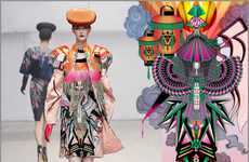 Trippy Origami Fashion - The Manish Arora Winter Collection Electrifies Haute Couture