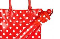 Polka-Dot Parasol Purses - The Yo Yo Dot Umbrella Tote is the Perfect Piece for a Rainy Day