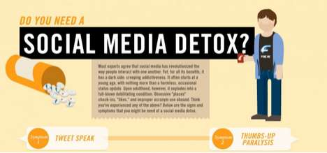 Diagnostic Internet Infographics - Social Media Detox Helps You Recognize When it's Time to Unplug